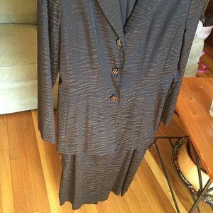 Doncaster zebra print blazer and skirt